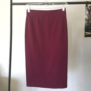 Forever 21 Plum Midi Pencil Skirt